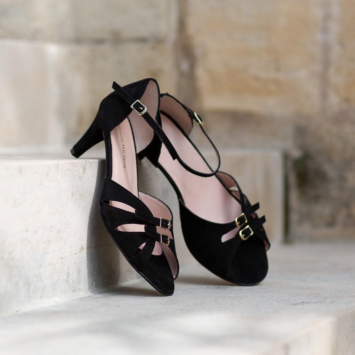 Sandales hallux valgus Meringue Noir