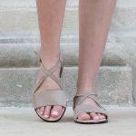 Sandales hallux valgus Granité Taupe