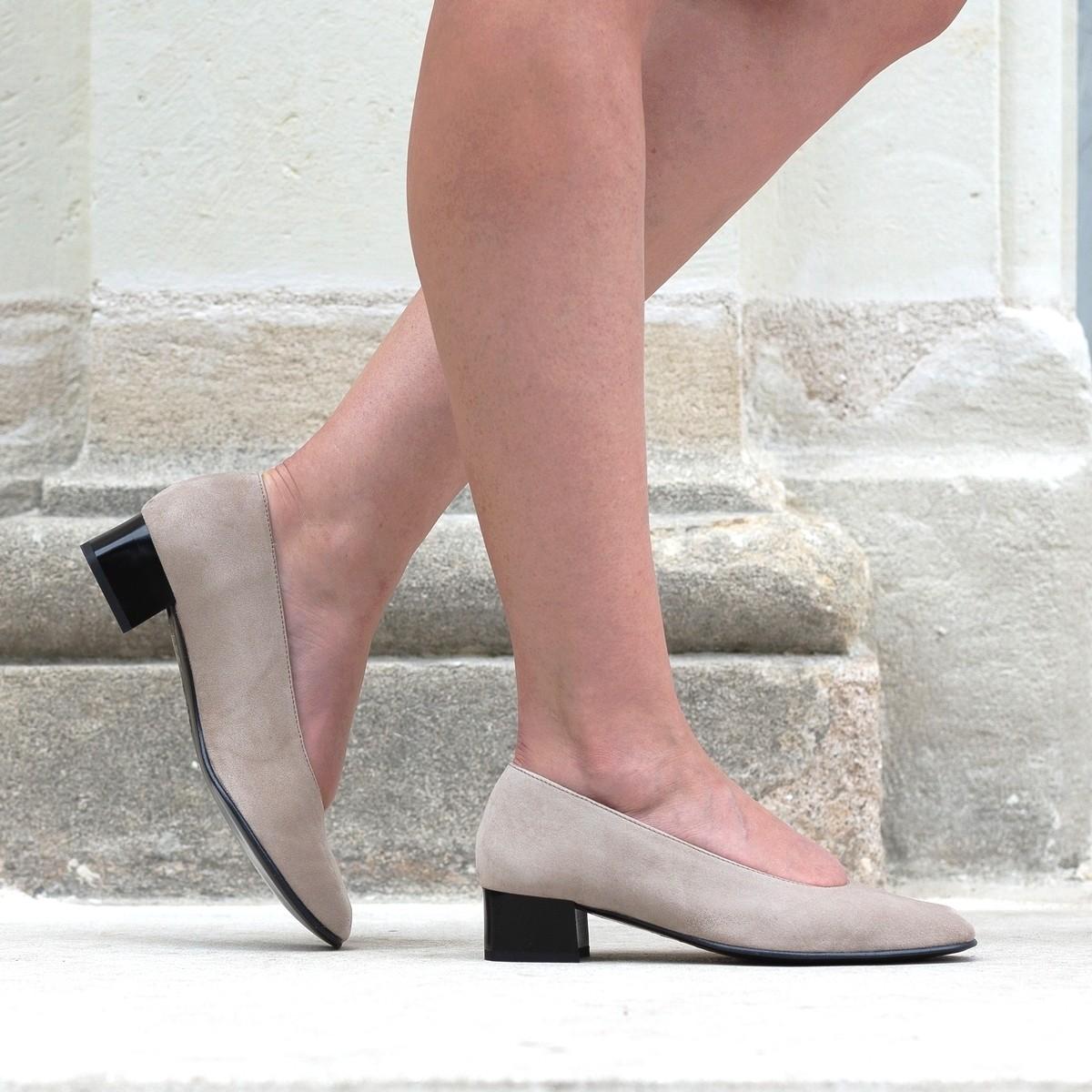 Chaussures hallux valgus Gaufrette Taupe